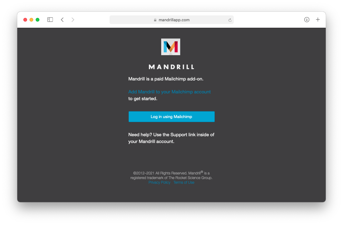mandrill paid extension